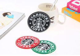 Wholesale STARBUCKS Coffee Cup Mats Classic Mermaid Silicone Coasters Pads