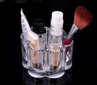 venda por atacado acrylic makeup case-EUA INSTOCK !!! Nova Moda de Acrílico transparente, Cosméticos Caixa de Jóias Maquiagem Organizador Caso SF-1028