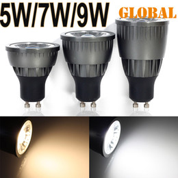 Wholesale COB SpotLight LED Bulb GU10 E27 MR16 w w w Cool White dimmable non AC85 V Energy Saving Light Epistar New Arrival Best Price