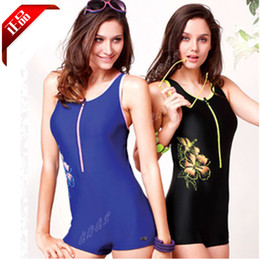 Wholesale Ying fat racerback color block print decoration women s y1366 one piece swimwear