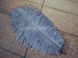 Gray Dyes Ostrich Feathers 300pcs lot 8-10inch 20-25cm Craft feather Wedding Decoration Party supplies Table Decoration