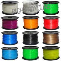 Cheap DHL 3D Printer supplies Filament Makerbot RepRap ABS 1.75mm 1kg roll Mutil-Color