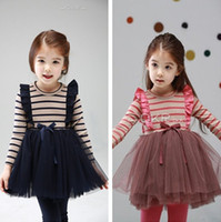 Sweety Girls Holiday Outwear Flouncing Stripe Long Sleeve To...