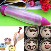 Wholesale Silicon Syringe Cream Chocolate Plate Dessert Cookie Cupcake Cake Decorating Pen