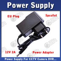 Wholesale Power Supply DC V A EU Plug Standard Power Adapter for CCTV Camera DVR