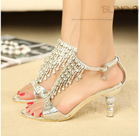 Women Stiletto Heel PU 2014 Free Shipping Summer Sexy Sandals Sparkling High Heels Crystals Prom Evening Party Dress Lady Bridal Wedding Gowns Dresses Shoes