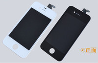 For Apple iPhone   LCD For iPhone 4 4s Free Fedex EMS DHL Ship with touch screen Full set Assembly iphone 4 4 screplacement LCD screen White and black color