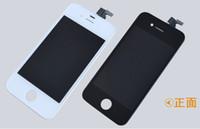 LCD para el iPhone 4 4s libera la nave de Fedex el ccsme DHL con la pantalla táctil Pantalla completa del LCD del screplacement del iphone 4/4 de la asamblea de la pantalla Color blanco y negro