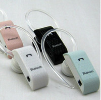 For Apple iPhone Bluetooth Headset Black,White,Pink,Light-Blue Free shipping MOQ 20PCS Fashion cell phone colorful monophonic bluetooth earphone Bluetooth Headset For mobile phone companion