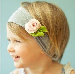 Wholesale Baby girls headband girls hair bows hair accessories baby headbands fabric flowers ribbon head band