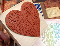 Wholesale DIY Wooden Vintage LOVE Almost Love Stamp Decoration Photo Album Scrapbooking cm Creative Gift