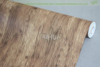 Wholesale home decor Pvc wood grain paper wallpaper door kitchen cabinet wardrobe furniture