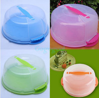 Wholesale Portable Locking Cupcake Cake Pretension Box Tub Carrier Case Storage Container