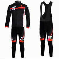 Full Anti Bacterial Men Wholesale - Cervelo 3T Team Cycling Long Sleeve Wear Bike Jersey & Black Bib pants Suit sets size :S~XXXL fit for S5 VWD road bike