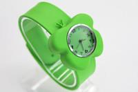 Wholesale 25pcs cartoon face New children slap watch shape flower watches Plum blossom watches cartoon heart watch