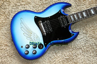 Solid Body 6 Strings Mahogany On sale Custom SG Model Electric Guitar IN Blue burst Top Musical instruments