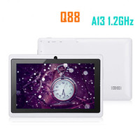 Wholesale Q88 inch Allwinner A13 Q8 Single camera MB G Android Jelly Bean GHZ Wifi capacitive screen Tablet PC Freeshipping