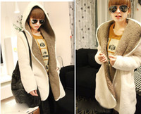 Wholesale Hot Fashion New Women Warm Plush Overcoat Thicken Hooded Sweater Coat Cardigan Fall and winter clothes