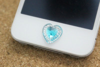 Wholesale Home Button Stickers for iPhone s G G for iPad iTouch DIY phone decoration