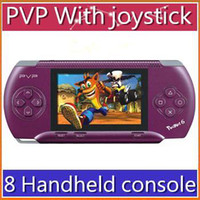 tv card player - DHL inch PVP pocket Handheld console bit TV out games player Games Free card RW GP03 JX