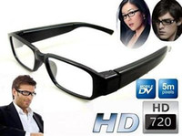 None No  Wholesale - 1280x720 HD 30fps Spy Eyewear Glasses Camera Hidden Mini DVR with TF slot