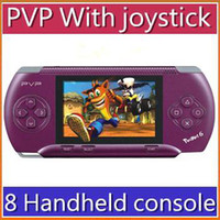 Wholesale DHL inch PVP pocket Handheld console bit TV out games player Games Free card RW GP03 JX