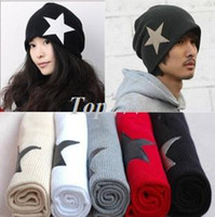 Wholesale Korean star explosion models male and female non mainstream liberal cap pentagram cap sleeve head cap hat knitted hat wool hat