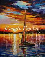 Wholesale 100 hand paint modern palette knife seascape oil painting sea013 painting woman nude knife oil painting