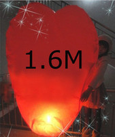 Holiday sky lanterns - Hot sale Big size cm Heart shaped Wishing Lamp SKY CHINESE LANTERNS BIRTHDAY WEDDING PARTY SKY LAMP
