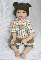 Cheap NEW fashion 3 4 Vinyl Silicone Reborn Baby Doll Lifelike baby dolls girl's doll 100% handmade