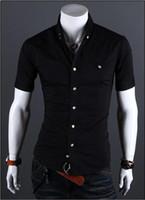 Cheap Dress Shirts mens shirts Best Short Sleeve 100% Silk dress shirts