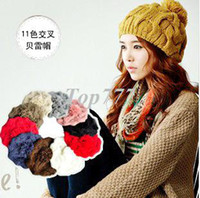 Wholesale Korean version of the popular straw hat big bud cannabis cap twist cap models wool cap knitted hat