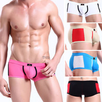 Men Boxers & Boy Shorts Sexy 5PCS High Quality New Soft Mens Sexy Boxers Briefs Underwear Boxer Brief Splice Low Waist Bulge Pouch Trunks Briefs Shorts Bottoms S M L