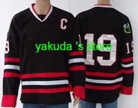 Top Quality Hockey Jersey #19 Toews Black Color Jersey Hocke...