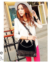 Wholesale 20pcs Personality rivet patchwork shoulder bags handbag women s handbag women s bag WY293