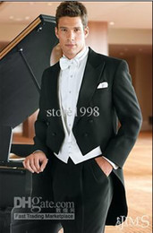 Wholesale Groom Tuxedos Best man Suit Wedding Groomsman Men Suits Bridegroom Jacket Pants Tie Vest Z21