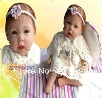 "Unisex Birth-12 months Vinyl 55cm 22"" high Ultra simulation baby dolls reborn baby girl doll same quality as adora baby doll"