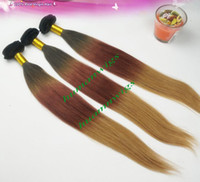 Wholesale Brazilian Ombre Hair Weave Silky Straight Three Tone Combine With Color b Remy Human Hair Weaving by EMS