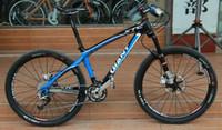 Wholesale 2013 Original Giant XTC FR Mountain Bike frame Carbon Fiber Frame Ultralight Bicycle Size S M