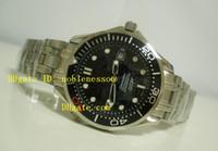 Wholesale Sapphire Sea Crystal - luxury Men's Sea James Bond 007 Watch Black Dial Automatic Movement Sapphire Crystal Dive Sport Wristwatch Mechanical Wrist Mens Watch