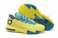 Football Men PU 2013 new kd 6 low basketball shoes for men kevin Durant athletic shoes size us 7~12