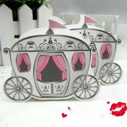 Wholesale Wedding favor boxes gift paper bags candy boxes Europe Pumpkin car wedding candy box