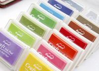 Wholesale 100pcs Hot selling retail Creative Cute Colorful Inkpad Stamps seal gift craft toy DIY tool Decoration Office