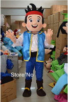 Mascot Costumes Animal Occupational Hot Sale High quality New Jake mascot Neverland narrowly Pirate fancy adult size cartoon mascot costume free shipping