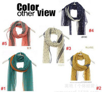 Printed anchor fashion accessories - New Korean Style Scarf Women Voile Printed Scarves Boat Anchor Pattern Lady Fashion Accessories