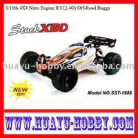 Wholesale car nitro rc toys1 th X4 Nitro Engine R C G radio control Off Road Buggy Stuck XBD