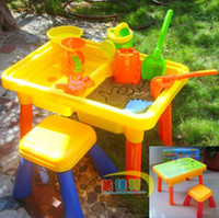 Wholesale 3c all match multifunctional child table beach table indoor sand water chair study desk