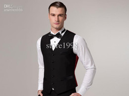 Wholesale Custom Design Size and Color Groom Groomsmen Vests Men Bridegroom Best Man Waistcoat M187