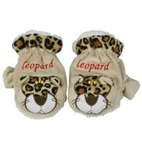 Wholesale New Fashion Soft Plush Animal Gloves Unisex Men Women Winter Warm Mittens Cartoon Leopard Wrist Gloves DLM10