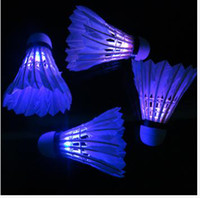 Wholesale LED Badminton Feather Shuttlecock Flash Light New